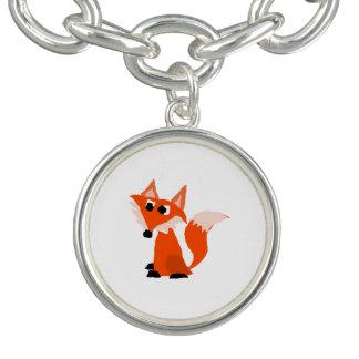 Cute Red Fox Cartoon Charm Bracelets