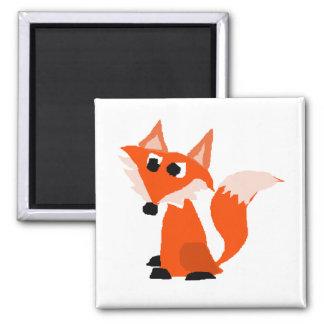 Cute Red Fox Cartoon Magnet