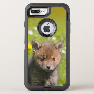 Cute Red Fox Cub Wild Baby Animal Photo - Protect OtterBox Defender iPhone 8 Plus/7 Plus Case