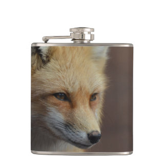 Cute Red Fox Hip Flask