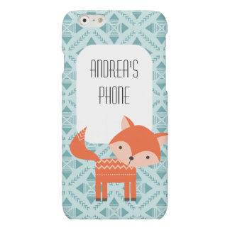Cute Red Fox Personalized Phone Case