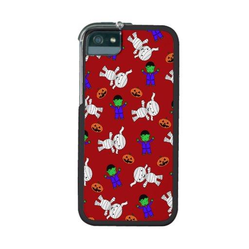 Cute red Frankenstein mummy pumpkins iPhone 5/5S Cases