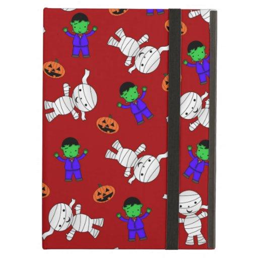 Cute red Frankenstein mummy pumpkins iPad Air Cover
