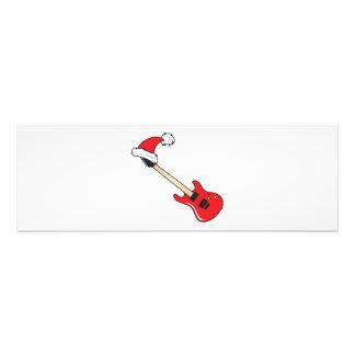 Cute Red Guitar Santa Hat Mugs Buttons Watches Pin Photo Art