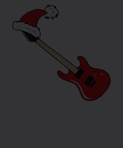 Cute Red Guitar Santa Hat Shirt Hoodies Jackets