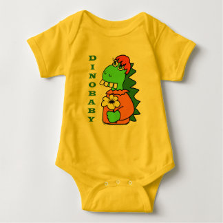 Cute Red Hair Baby Dinosaur Bodysuit
