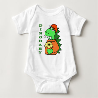 Cute Red Hair Baby Dinosaur Jersey Bodysuit