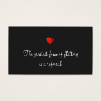 Cute Red Heart Referral Card