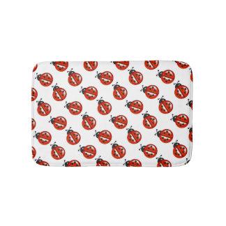 Cute Red Ladybugs Polka Dots Bath Mat