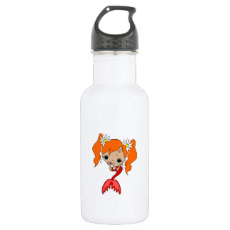 Cute Red Mermaid 3 532 Ml Water Bottle