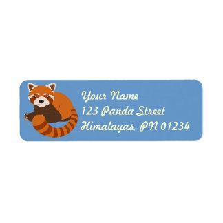 Cute Red Panda Adddress Labels