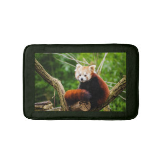 Cute Red Panda Bear Bath Mat
