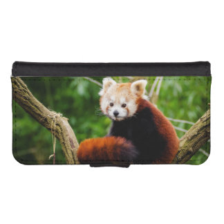 Cute Red Panda Bear iPhone SE/5/5s Wallet Case