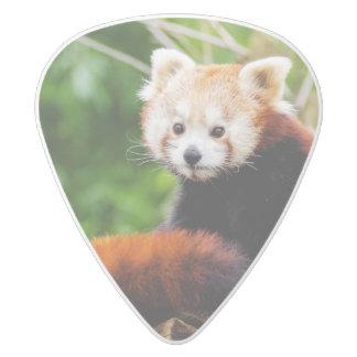 Cute Red Panda Bear White Delrin Guitar Pick