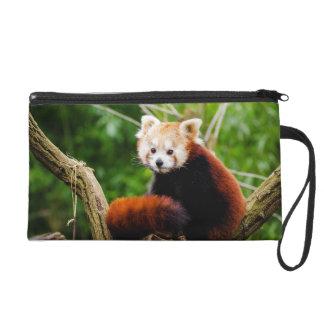 Cute Red Panda Bear Wristlet