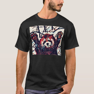 Cute Red Panda Snow Day T-Shirt