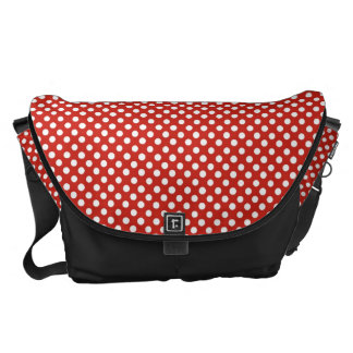 Cute red polka dot pattern courier bags