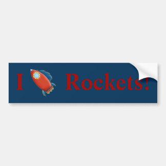 Cute Red Rocket Bumper Sticker