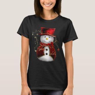 Cute Red Snowman T-Shirt
