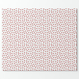 Cute Red Spotted Mushrooms Wrapping Paper