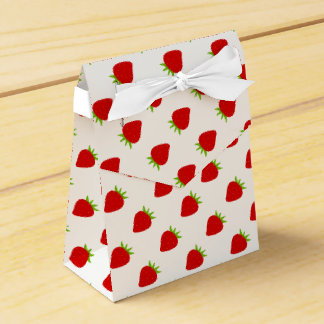 Cute Red Strawberry Pattern Tent Favor Box