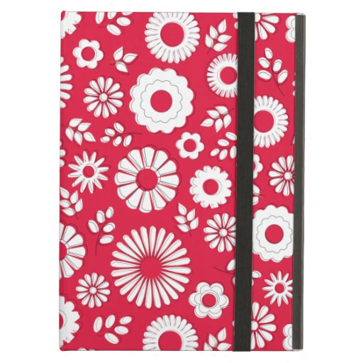 Cute red summer flowers iPad case