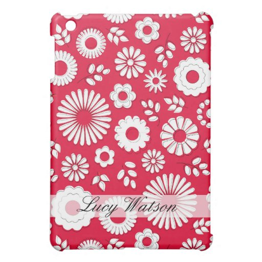 Cute red summer flowers case for the iPad mini
