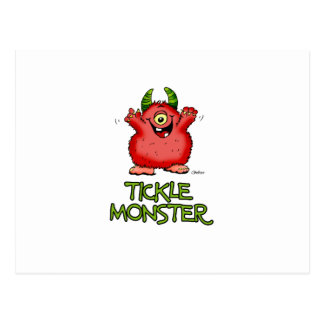 Cute red tickle Monster by send2smiles Postcard