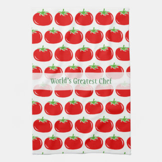Cute red tomato custom kitchen towel gift idea