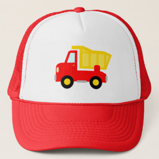 Cute red toy dump truck trucker hat for kids