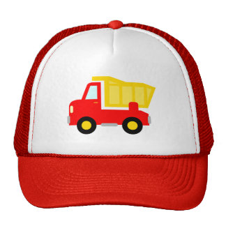 Cute red toy dump truck trucker hat for kids