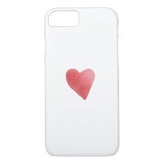 Cute Red Watercolor Heart Romantic Minimalist Case-Mate iPhone Case