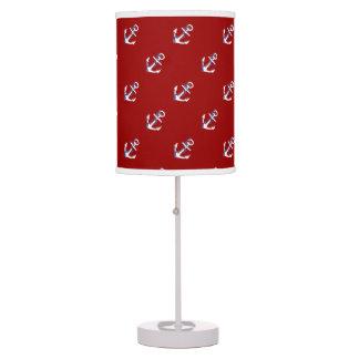 Cute Red White & Blue Nautical, w/ Anchors Table Lamp