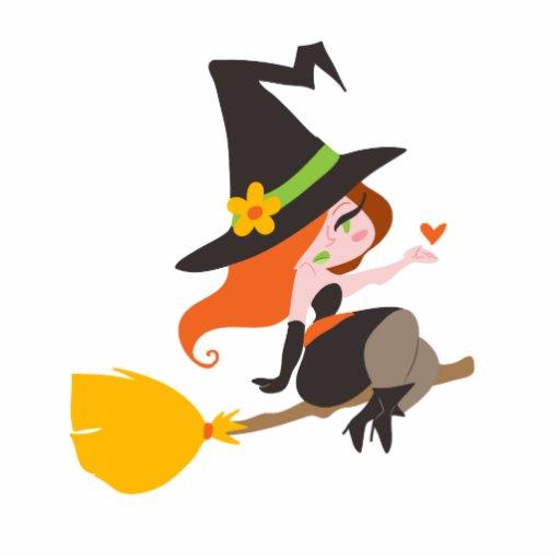 Cute Redhead Witch Photo CutoutsCute Cartoon Witch