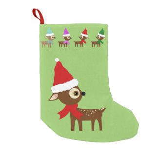 Cute Reindeer Christmas Stocking
