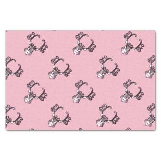 Cute Reindeer deer cottage  tissue paper pink