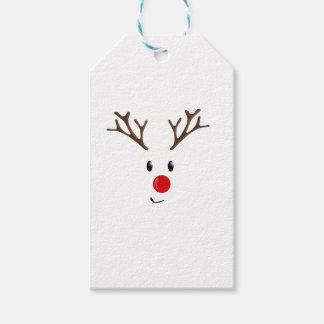 Cute reindeer gift tags