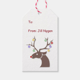Cute Reindeer Gift Tags Pack Of Gift Tags
