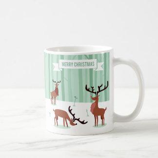 Cute Reindeers Christmas mugs