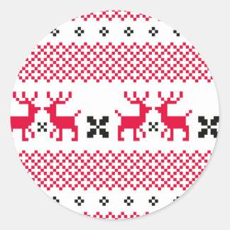 Cute reindeers Creative t-shirts Round Sticker