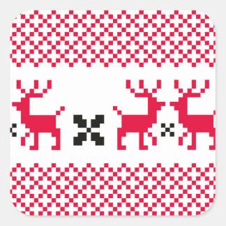 Cute reindeers Creative t-shirts Square Sticker