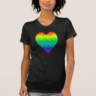 Cute retro 80's wild rainbow heart t-shirts