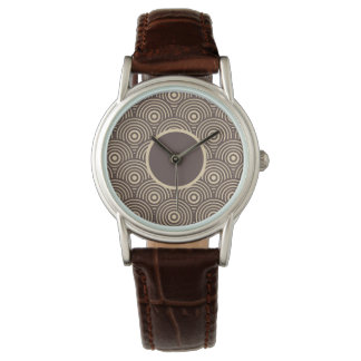 Cute retro circles wristwatches