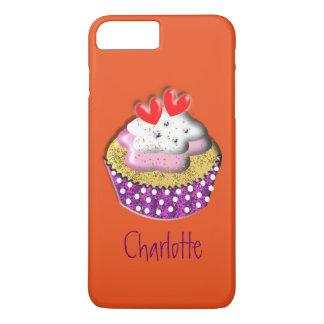 Cute Retro Cup Cake Personalized iPhone 7 Plus Case