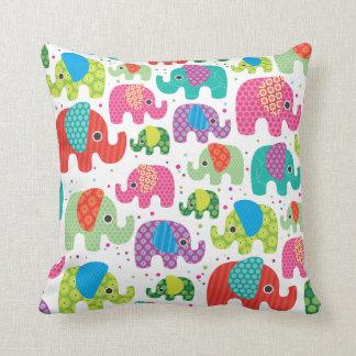 Cute retro elephant india pattern pillow case