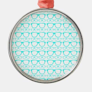 Cute Retro Eyeglass Hipster Christmas Tree Ornaments