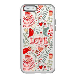 Cute Retro Floral Valentines Design Incipio Feather® Shine iPhone 6 Case