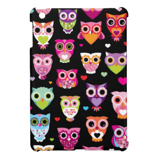 Cute retro owl pattern illustration ipad iPad mini cover