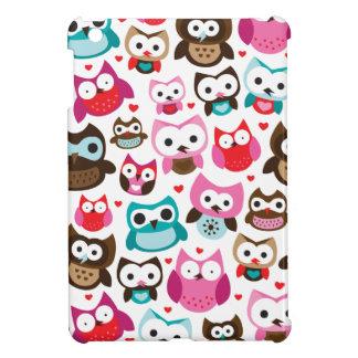 Cute retro owl pattern ipad mini case