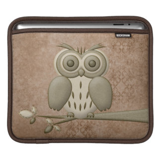 Cute Retro Owl Universal iPad Sleeve